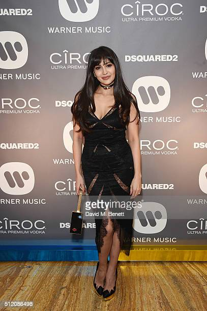 Zara Martin attends the Warner Music Group Ciroc Vodka Brit Awards after party at Freemasons Hall on February 24 2016 in London England