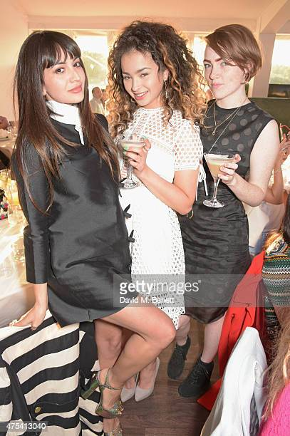 Zara Martin Ella Eyre and Chloe Howl attend day two of the Audi Polo Challenge at Coworth Park on May 31 2015 in London England