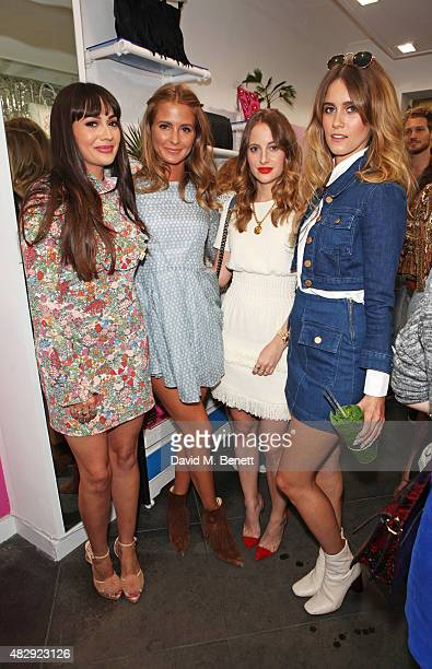 Zara Martin Millie Mackintosh Rosie Fortescue and Jade Williams attend the Zara Martin x Skinnydip London party celebrating the launch of 'The Wild...