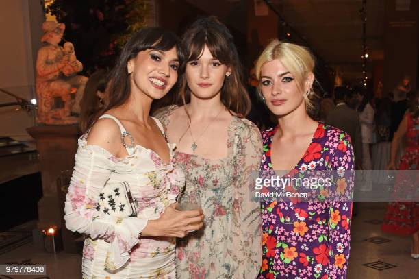 Zara Martin Sai Bennett and Sydney Lima attend the Summer Party at the VA in partnership with Harrods at the Victoria and Albert Museum on June 20...