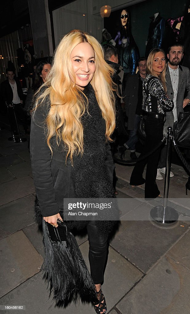 Zara Martin sighting at Burberry on January 31, 2013 in London, England.