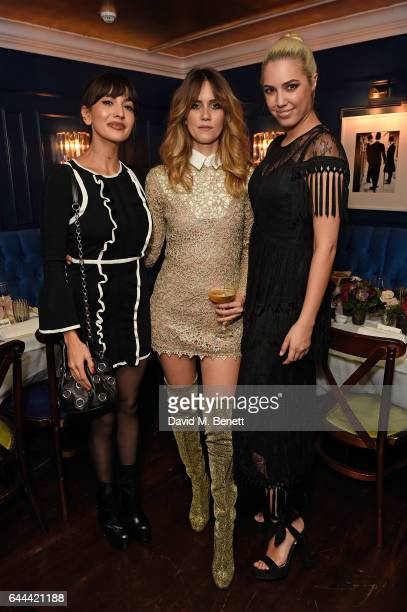 Zara Martin Whinnie Williams and Amber Le Bon attend Alice McCall Fall 2017 Collection Launch Vip Dinner at Albert's on February 23 2017 in London...