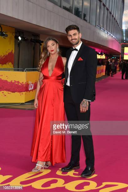 Zara McDermott and Adam Collard attend ITV Palooza at The Royal Festival Hall on October 16 2018 in London England