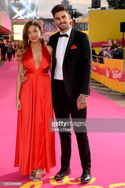 Zara McDermott and Adam Collard attend the ITV Palooza held at The Royal Festival Hall on October 16 2018 in London England