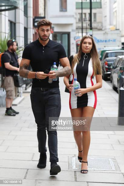 Zara McDermott and Adam Collard seen arriving at KISS FM UK on July 19 2018 in London England