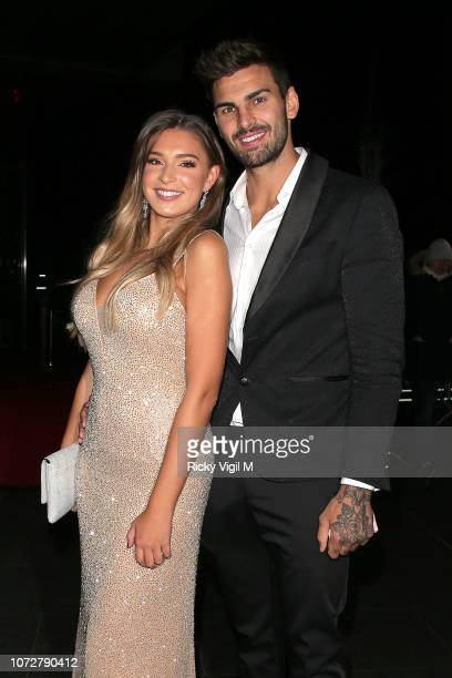 Zara McDermott and Adam Collard seen attending The Beauty Awards with OK at Park Plaza Westminster Bridge on November 26 2018 in London England