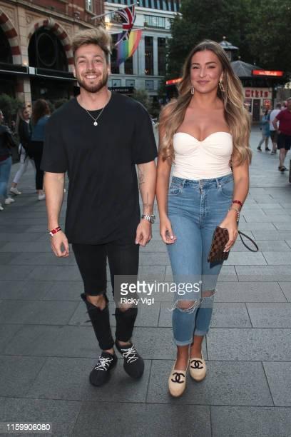 Zara McDermott and Sam Thompson seen attending Heart Dance - press launch at Global Studios on July 03, 2019 in London, England.