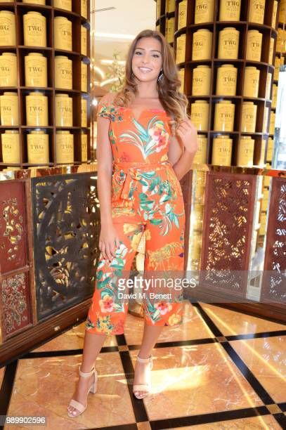 Zara McDermott attends the TWG Tea Gala Event in Leicester Square to celebrate the launch of TWG Tea in the UK on July 2 2018 in London England