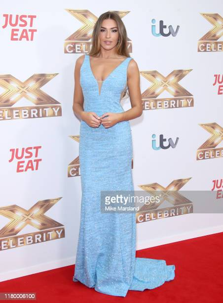 Zara McDermott attends The X Factor Celebrity launch photocall at The Mayfair Hotel on October 09 2019 in London England
