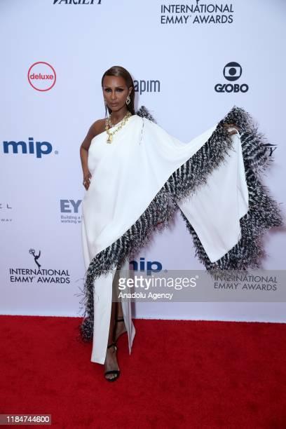 Zara Mohamed Abdulmajid arrives for the 47th Annual International Emmy Awards at New York Hilton on November 25 2019 in New York City