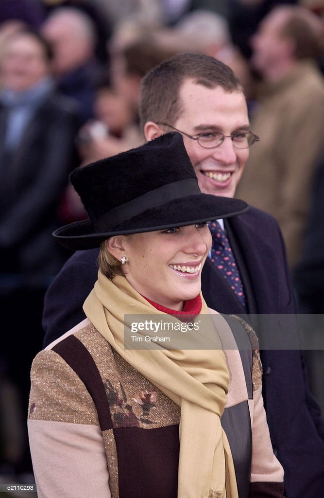 Peter And Zara Phillips Sandringham : News Photo