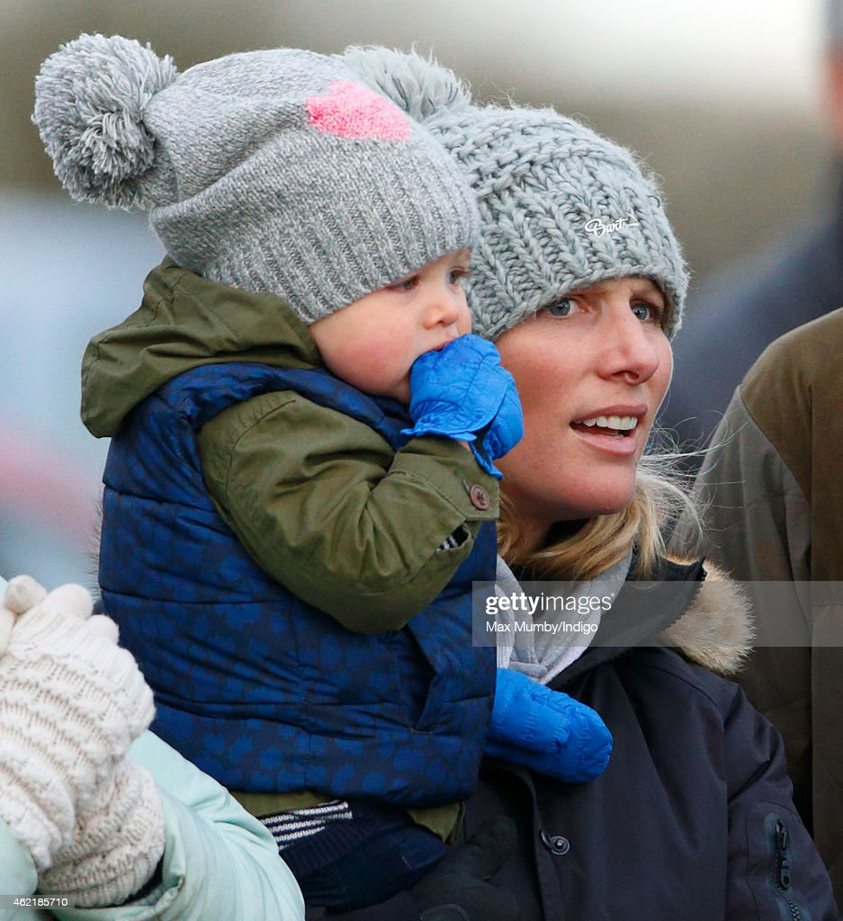 Zara Phillips Attends Heythrop Hunt Point-to-Point : News Photo