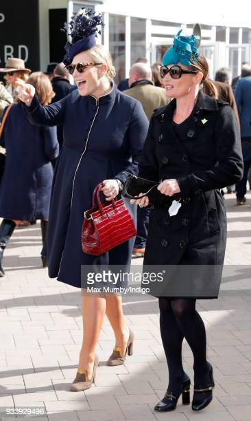 Zara Phillips and Dolly Maude attend day 4 'Gold Cup Day' of the Cheltenham Festival at Cheltenham Racecourse on March 16 2018 in Cheltenham England