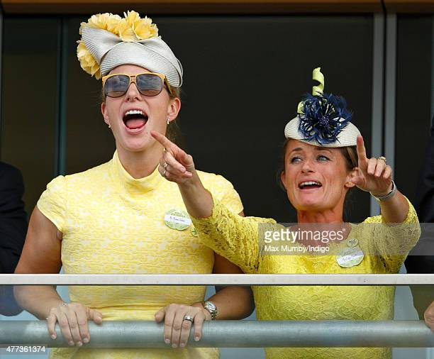 Zara Phillips and Dolly Maude watch the racing as they attend day 1 of Royal Ascot at Ascot Racecourse on June 16 2015 in Ascot England
