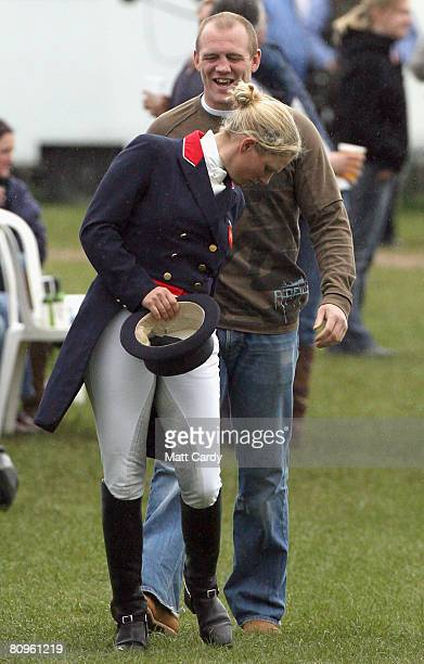 Zara Phillips and her boyfriend England and Gloucester rugby player Mike Tindall on May 02 2008 in Badminton England Reigning world champion Zara...
