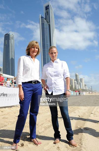 Zara Phillips and Katie Page-Harvey pose for a photograph before the Magic Millions Barrier Draw on January 8, 2013 in Surfers Paradise, Australia.