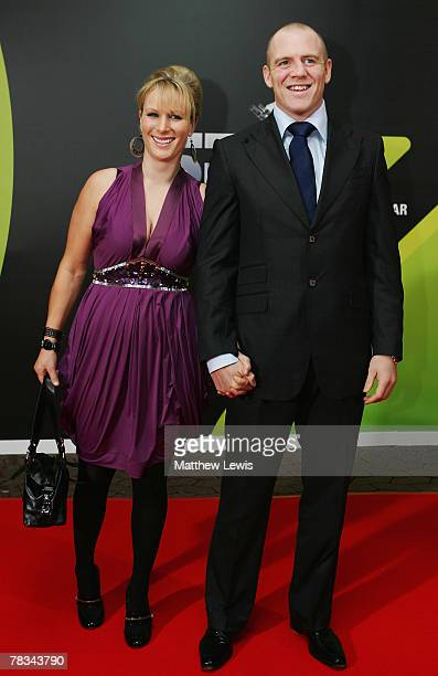 Zara Phillips and Mike Tindall arrives at the BBC Sports Personality of the Year Awards at the Birmingham NEC on December 09 2007 in Birmingham...