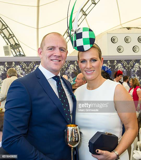 Zara Phillips and Mike Tindall attend Magic Millions Raceday on January 14 2017 in Gold Coast Australia