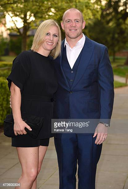 Zara Phillips and Mike Tindall attend the evening reception of the ISPS Handa Mike Tindall 3rd annual celebrity golf classic at The Grove Hotel on...