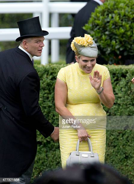 Zara Phillips and Mike Tindall attend the first day of The Royal Ascot race meeting on June 16th 2015 in Ascot England
