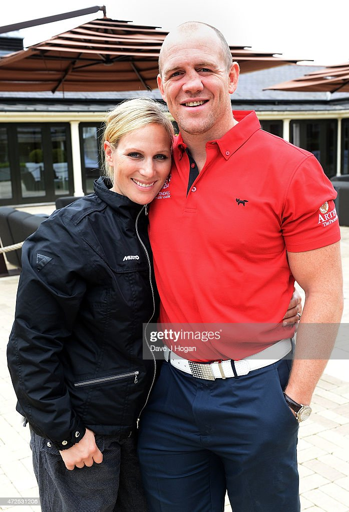 Zara Phillips and Mike Tindall attend the ISPS Handa Mike Tindall 3rd Annual Celebrity Golf Classic at The Grove Hotel on May 8, 2015 in Hertford, England.