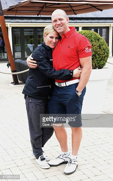 Zara Phillips and Mike Tindall attend the ISPS Handa Mike Tindall 3rd Annual Celebrity Golf Classic at The Grove Hotel on May 8 2015 in Hertford...