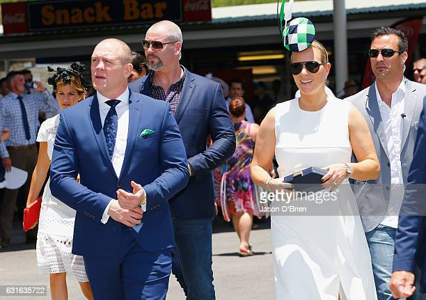 Zara Phillips and Mike Tindall attend the Magic Millions Raceday on January 14 2017 in Gold Coast Australia