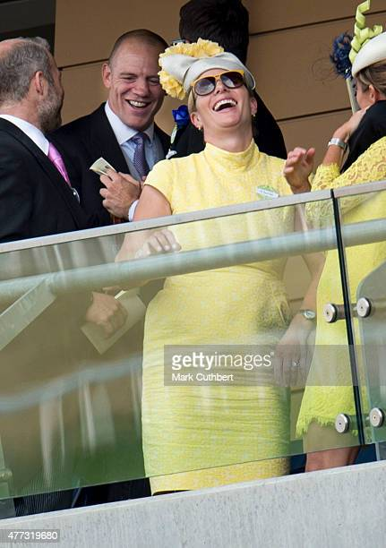 Zara Phillips and Mike Tindall on day 1 of Royal Ascot at Ascot Racecourse on June 16 2015 in Ascot England