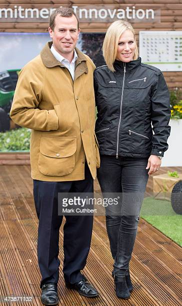 Zara Phillips and Peter Phillips visit the annual Chelsea Flower show at Royal Hospital Chelsea on May 18, 2015 in London, England.
