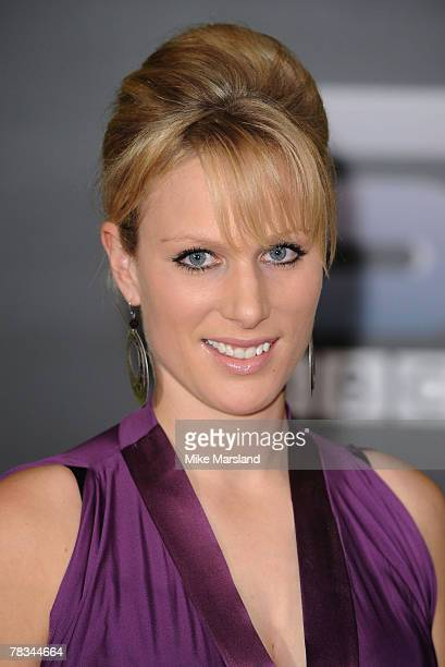 Zara Phillips arrives at BBC Sports Personality of The Year at the NEC Birmingham on December 09 2007 in Birmingham United Kingdom