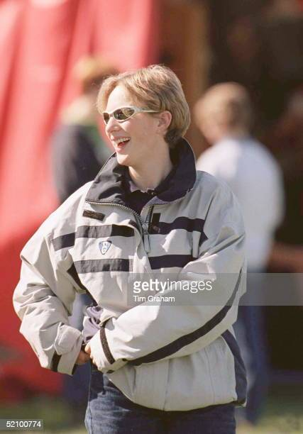 Zara Phillips At Gatcombe Park Horse Trials Gloucestershire