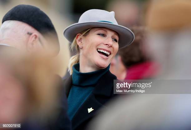 Zara Phillips attends day 1 'Champion Day' of the Cheltenham Festival at Cheltenham Racecourse on March 13 2018 in Cheltenham England