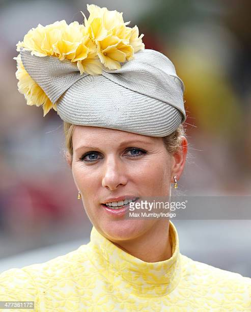 Zara Phillips attends day 1 of Royal Ascot at Ascot Racecourse on June 16 2015 in Ascot England