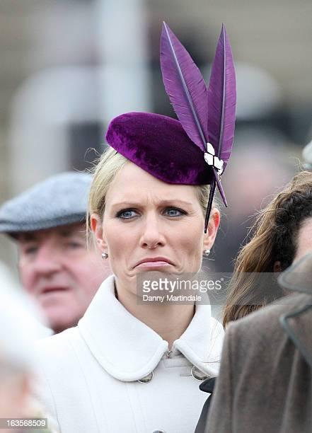 Zara Phillips attends day 1 of the Cheltenham Festival at Cheltenham Racecourse on March 12 2013 in Cheltenham England