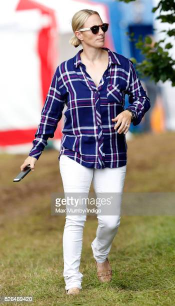 Zara Phillips attends day 1 of the Festival of British Eventing at Gatcombe Park on August 4 2017 in Stroud England
