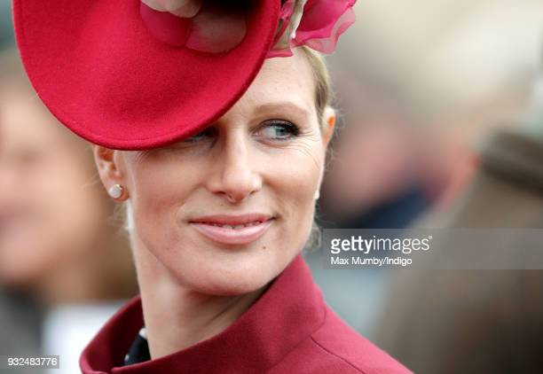 Zara Phillips attends day 2 'Ladies Day' of the Cheltenham Festival at Cheltenham Racecourse on March 14 2018 in Cheltenham England Zara Phillips