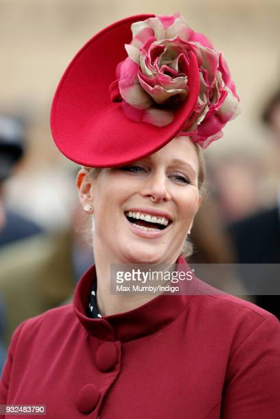 Zara Phillips attends day 2 'Ladies Day' of the Cheltenham Festival at Cheltenham Racecourse on March 14, 2018 in Cheltenham, England. Zara Phillips