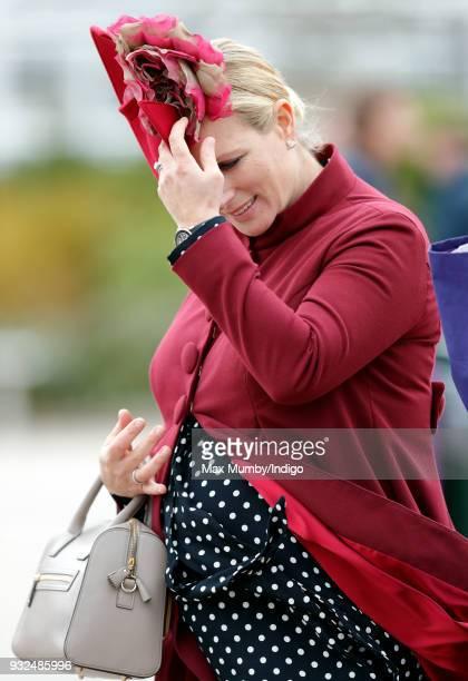 Zara Phillips attends day 2 'Ladies Day' of the Cheltenham Festival at Cheltenham Racecourse on March 14 2018 in Cheltenham England Zara Phillips