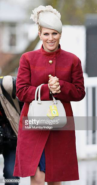 Zara Phillips attends day 3 'Grand National Day' of the Crabbie's Grand National Festival at Aintree Racecourse on April 9 2016 in Liverpool England