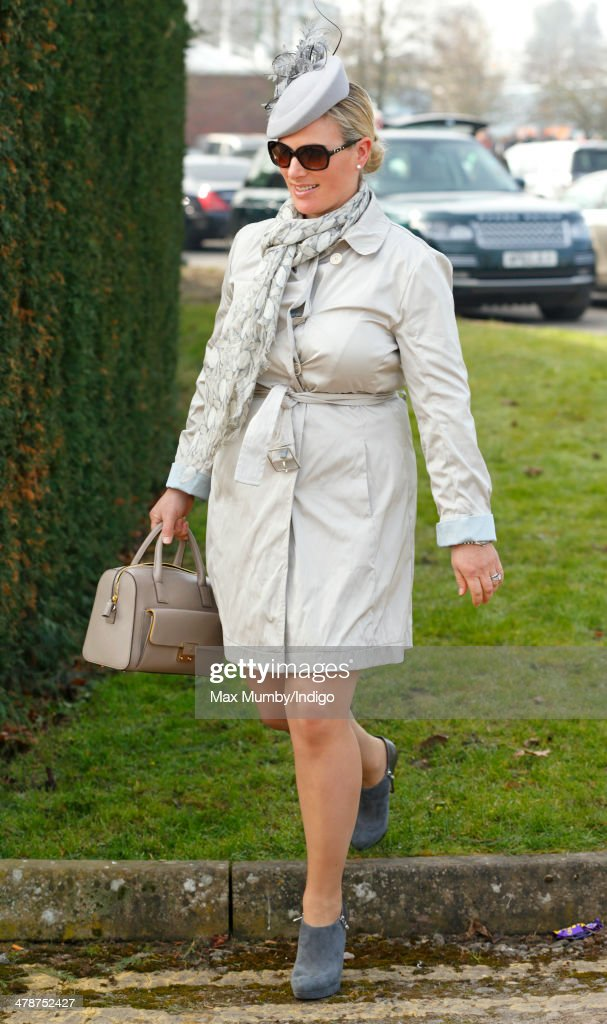 Zara Phillips attends Day 4 of the Cheltenham Festival at Cheltenham Racecourse on March 14, 2014 in Cheltenham, England.