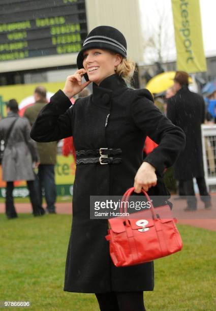 Zara Phillips attends Gold Cup day of the Cheltenham Festival on March 19, 2010 in Cheltenham, England.