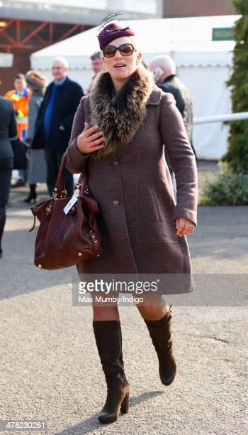 Zara Phillips attends Ladies Day day 2 of the Cheltenham Festival at Cheltenham Racecourse on March 12 2014 in Cheltenham England