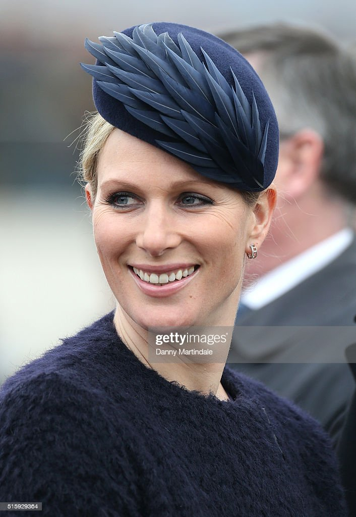 Zara Phillips attends Ladies Day, the second day of the Cheltenham Festival at Cheltenham Racecourse on March 16, 2016 in Cheltenham, England.