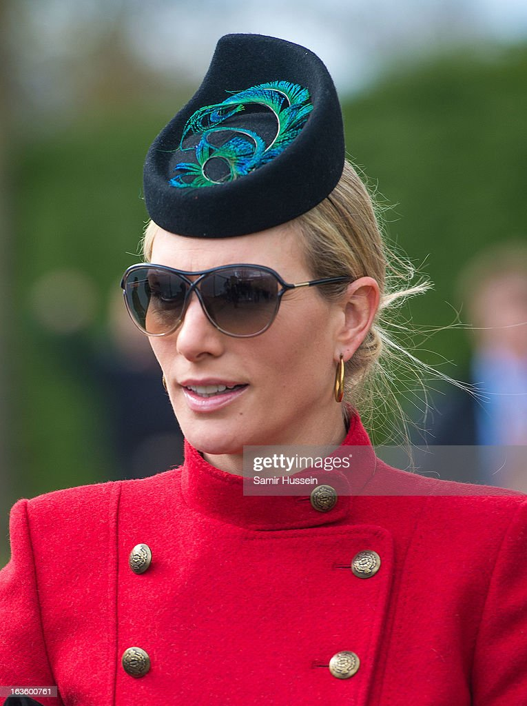 Zara Phillips attends the Cheltenham Festival Day 2 on Ladies Day at Cheltenham racecourse on March 13, 2013 in London, England.