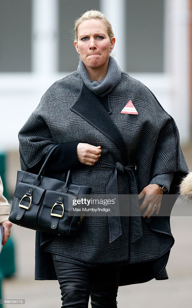 Zara Phillips attends the Christmas Racing Meet at Ascot Racecourse where her horse 'Somewhere To Be' ran in The Winning Post Bookmakers Bristol 'National Hunt' Maiden Hurdle Race on December 16, 2016 in Ascot, England.