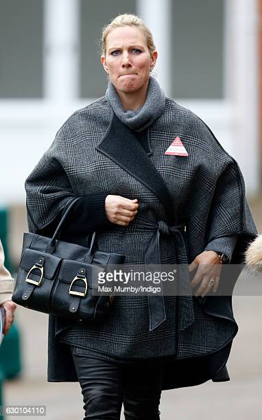 Zara Phillips attends the Christmas Racing Meet at Ascot Racecourse where her horse 'Somewhere To Be' ran in The Winning Post Bookmakers Bristol...
