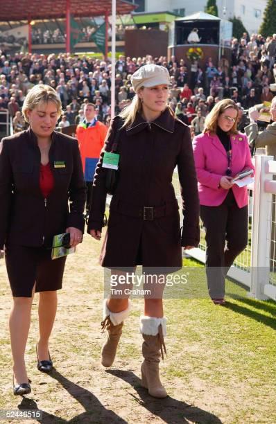 Zara Phillips attends the fourth day of the Cheltenham Festival at Cheltenham Racecourse on March 18 2005 in Cheltenham England