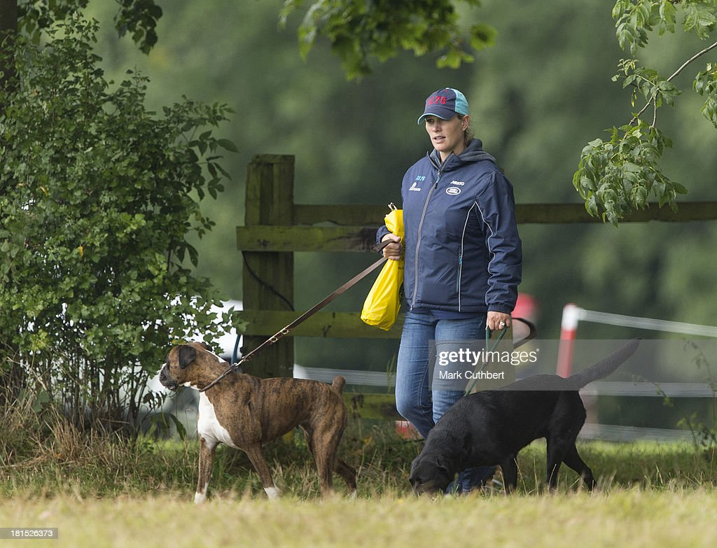 Zara Phillips attends the Gatcombe Horse Trials at Gatcombe Park on September 21, 2013 in Minchinhampton, England.