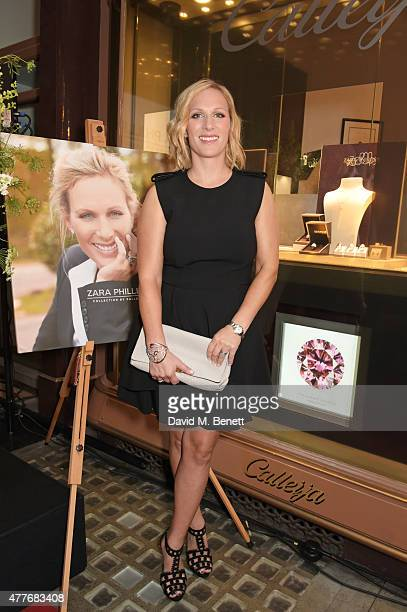 Zara Phillips attends the official launch of The Zara Phillips Collection by Calleija at the Royal Arcade on June 18, 2015 in London, England.