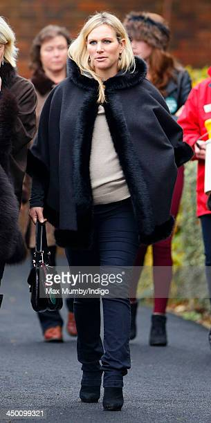 Zara Phillips attends the Paddy Power Gold Cup Day at Cheltenham Racecourse on November 16 2013 in Cheltenham England